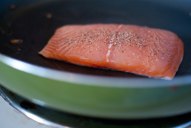 Instead of letting your salmon swim in wine to infuse flavor, try beer.