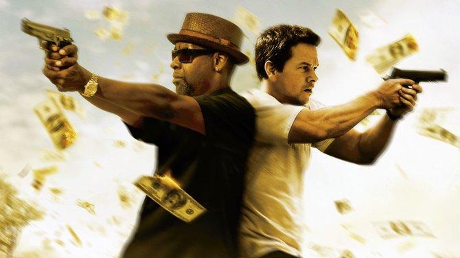 "Denzel Washington and Mark Wahlberg star in ""2 Guns."