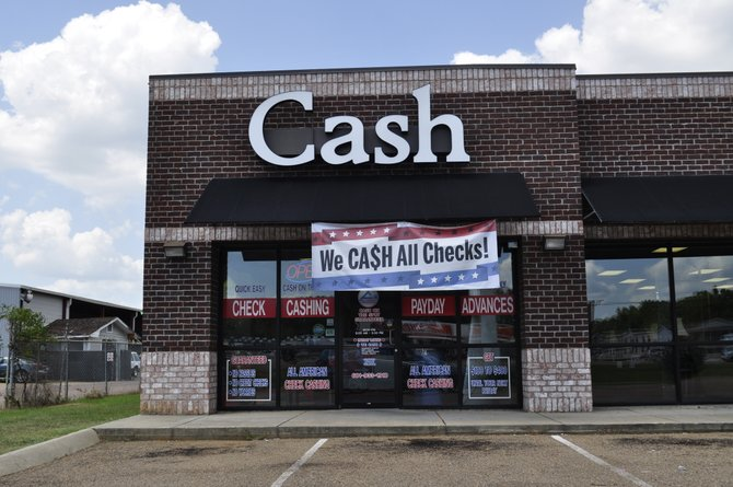 One of many check-cashing stores in the metro area—this one in Pearl.