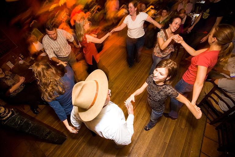 Learn to dance an Irish jig at the Jackson Irish Dancers' mostly monthly céilís.