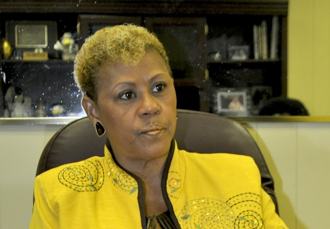 Alberta Ross Gibson is confident she can sell investors and developers on doing business in Hinds County.