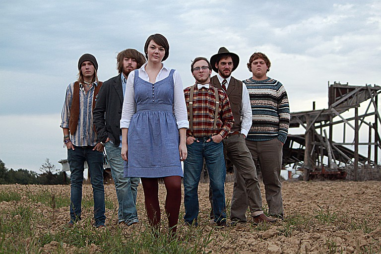 Dandy & the Lions (from left: Carson Braymer, Caleb Hollingsworth, Beth Allmon, Zach Lovett, Spencer Thomas and Geoff Fowler) performs at Otherfest Sept. 21.