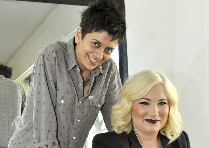 Kate McNeely (seated) and Christie O'Bryant are the owners of Trim Salon in Fondren.