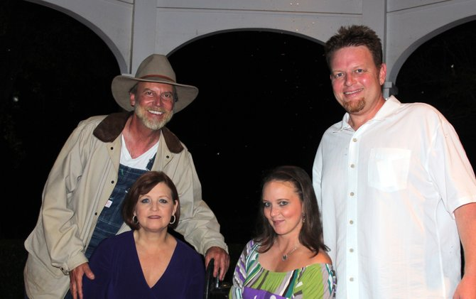 Cheryl Abernathy, Keni Bounds, Wayne Thomas and Eric Riggs want to get the audience involved when they perform as the Detective Mystery Dinner Theatre group.
