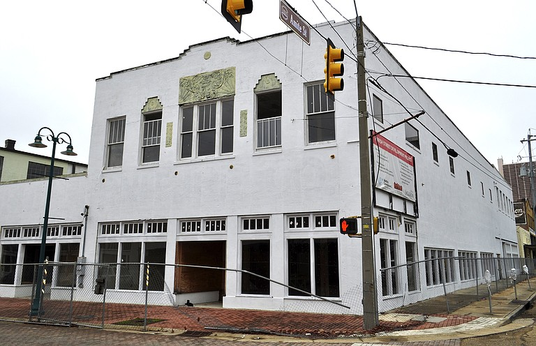 This building, located at the corner of Farish and Amite streets, was under renovation by developer David Watkins for a B.B. King's restaurant, but Watkins says foundation problems halted the project.