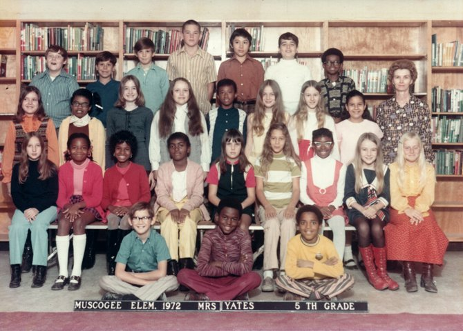 Donna Ladd's (second from right, second row from bottom) 5th-grade class.