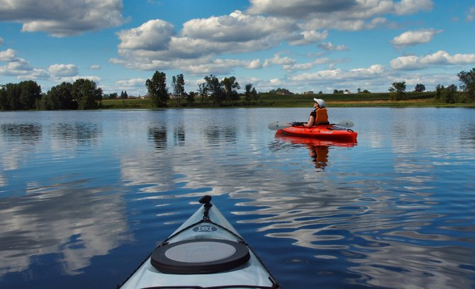 Leave your electronics on dry land and spend the day kayaking.