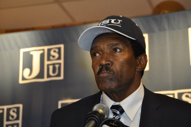 Harold Jackson was selected as the new head football coach of the Jackson State Tigers.