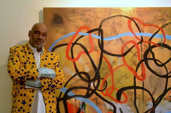 Neo-African abstract expressionist painter Danny Simmons will visit Jackson State University in February.