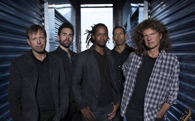 "Jazz musician and multiple Grammy Award winner Pat Metheny (right) performs with the Unity Band at the Jackson Academy Performing Arts Center Feb. 3 in anticipation of releasing ""Kin (←→)."""