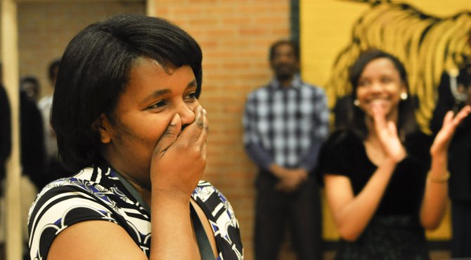 The Milken Family Foundation National Educator Awards recognized Tracee Thompson, an English teacher at Jim Hill High School in Jackson, with a $25,000 award during a surprise visit to the school Wednesday.