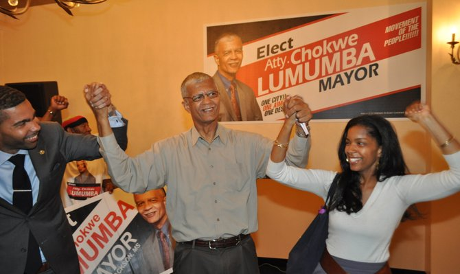 Chokwe Lumumba was a father figure to many more people than his biological children, Rukia (right) and Chokwe Antar (left). Until his death, Lumumba was a mentor to dozens of young activists over the years.