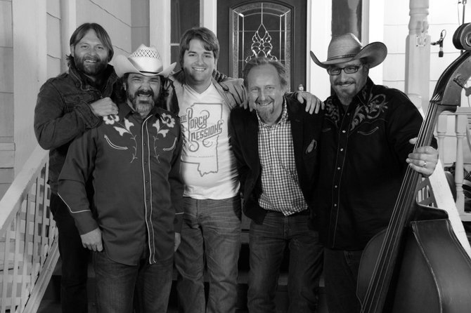 In November, Paul West and Drew Young invited The Deltamatics to perform on The Porch Sessions. From left: Joey Odom, Dave Allen, Paul West, Drew Young and Tate Thriffiley.