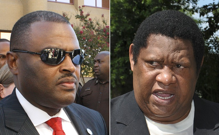 Hinds County Sheriff Tyrone Lewis (left) has come under fire for a recent jail riot that resulted in the death of a prisoner and Supervisor Kenneth Stokes' (right) call for a no-confidence vote in Lewis' leadership.