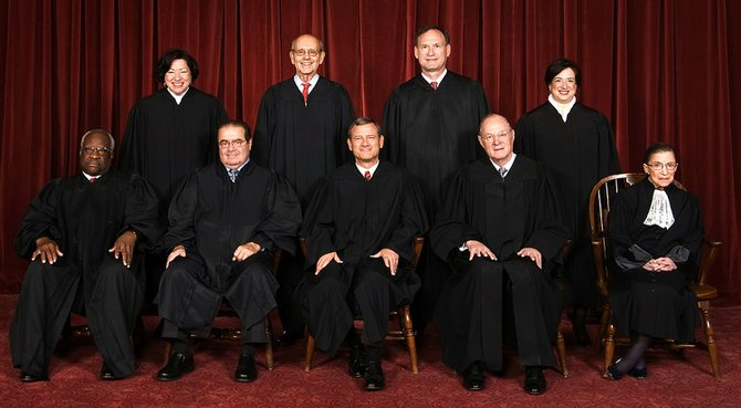 The Supreme Court cleared the way Monday for an immediate expansion of same-sex marriage by unexpectedly and tersely turning away appeals from five states seeking to prohibit gay and lesbian unions.