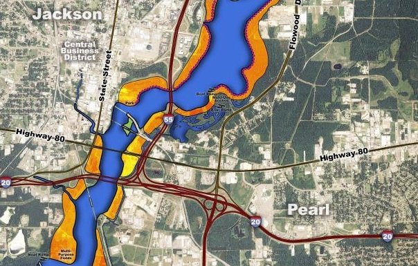 One Lake plans call for 15 miles of mixed-use trails, 70 acres of parks and recreation area, natural islands formed by flooding the Pearl River and new wildlife viewing areas near a proposed 1,500-acre, six-mile-long lake from Lakeland Drive south to the town of Richland.
