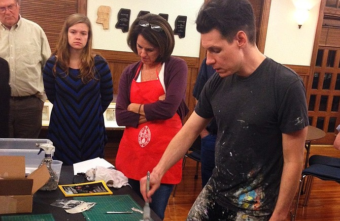Jackson's artist community gives people many avenues to stretch their creative muscle, including a four-week class taught by William Goodman (pictured far right).