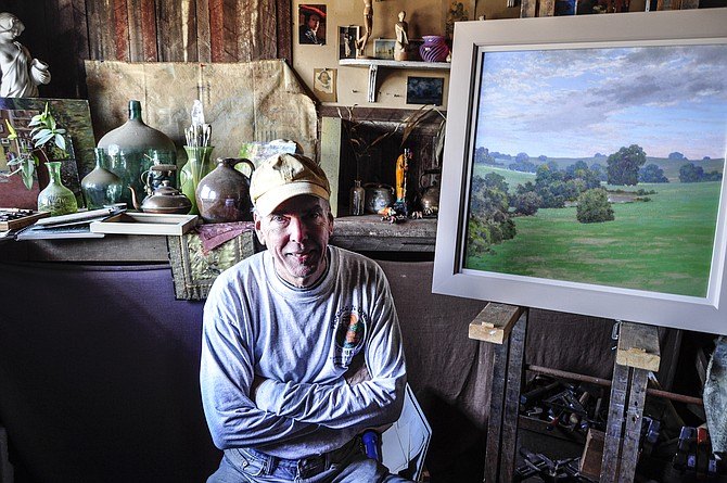 Artist Richard Kelso is always looking for the perfect landscape to paint.