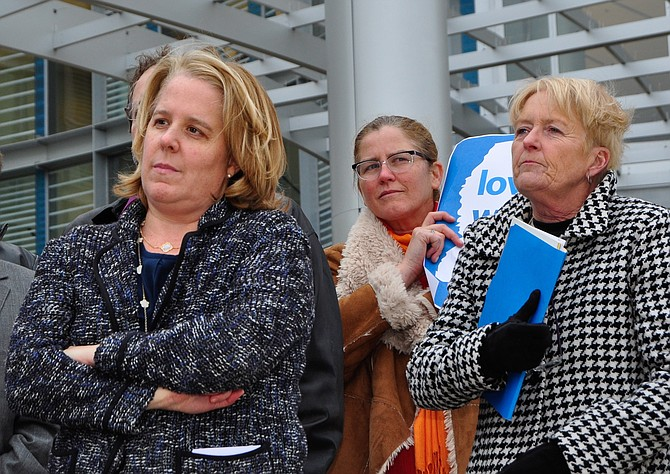 Roberta Kaplan (left) was the attorney for the defendants in Mississippi's same-sex marriage case. Also pictured: Ellen Langford (middle) and Debbie Allen (right).