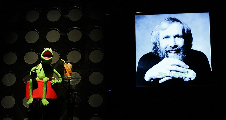 """Kermit the Frog """"spoke"""" to the crowd about """"ridiculous optimism."""" Courtesy flickr/Tate K. Nations/TedX"""