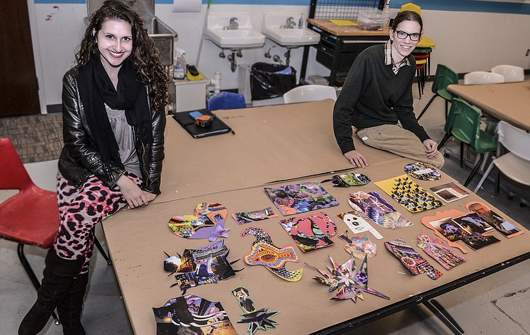 This year's C3 Project at the Mississippi Museum of Art, created by Sarah Qarqish and Morgan Welch, allows Mississippians to create collages based on their happy memories of the state.