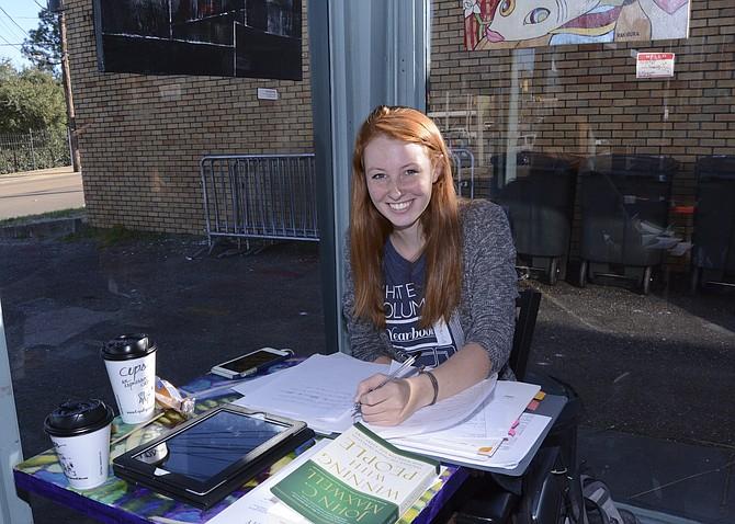 Rachel Driscoll at Cups Espresso Café