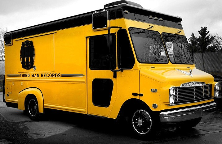 The big yellow van will be parked in front of Offbeat (151 Wesley Ave., 601-376-9404) Sunday, March 15, from 2 to 5 p.m. Shoppers will be able to pick up limited-edition Third Man merchandise, including vinyl, books and t-shirts, as the van blasts the label's latest tunes. Photo courtesy Third Man Records