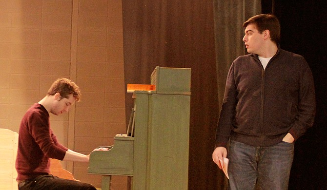 """For the Unframed at New Stage Theatre series, Matt Faries (left) and Neill Kelly (right), star in """"Dog Sees God: Confessions of a Teenage Blockhead,"""" which is an unauthorized parody of the """"Peanuts"""" comic strip. Photo courtesy Amber Helsel"""