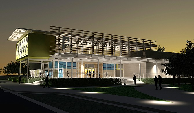 Construction is underway for the state-of-the-art Grammy Museum Mississippi, a sister campus of the Grammy Museum in Los Angeles that's being built on the campus of Delta State University. Photo courtesy Grammy Museum® Mississippi