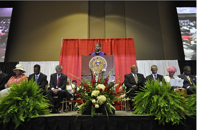Bishop Jeffrey Stallworth (center) in 2013.