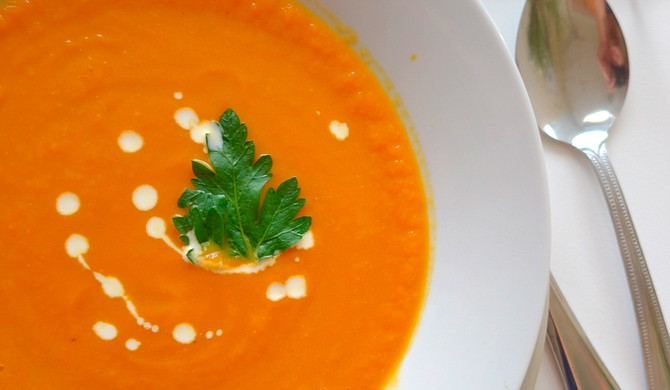 Even in the spring, soup, such as Potage Crecy, can be warm and comforting. Photo courtesy Flickr/gpeters