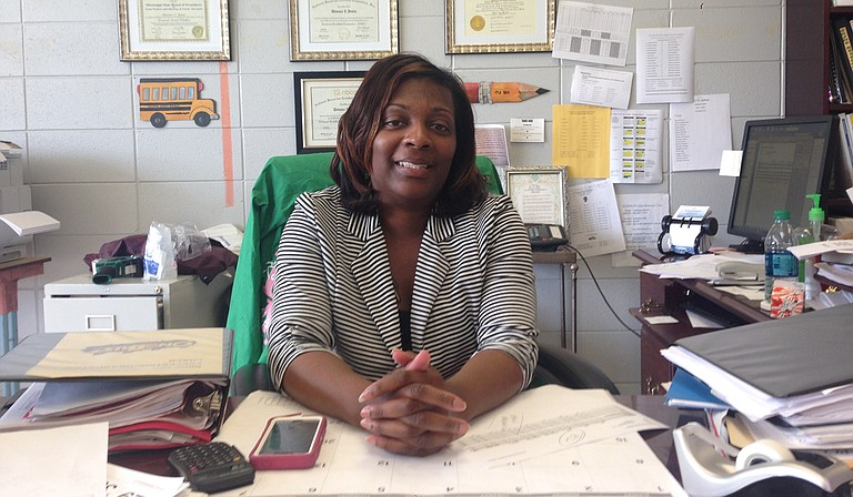 """""""We have parents who don't have the capacity to help the kids,"""" Devona Jones (above), dropout prevention coordinator for the Coahoma County School District, said. Photo courtesy Sharon Lerner"""