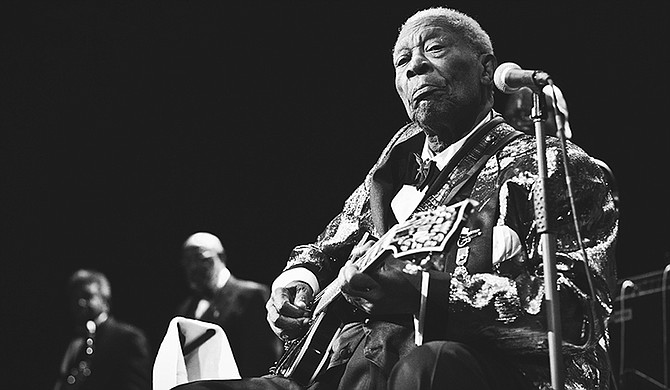 For generations of blues musicians and rock 'n rollers, B.B. King's plaintive vocals and soaring guitar playing style set the standard for an art form born in the American South and honored and performed worldwide. Photo courtesy Flickr/Justin Block
