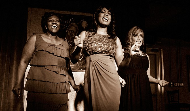 """Sharon Miles, Kimberly Morgan Myles and Mandy Kate Myers star in New Stage Theatre's production of """"It Ain't Nothin' But the Blues,"""" which runs from May 26 to June 7. Photo courtesy New Stage Theatre"""