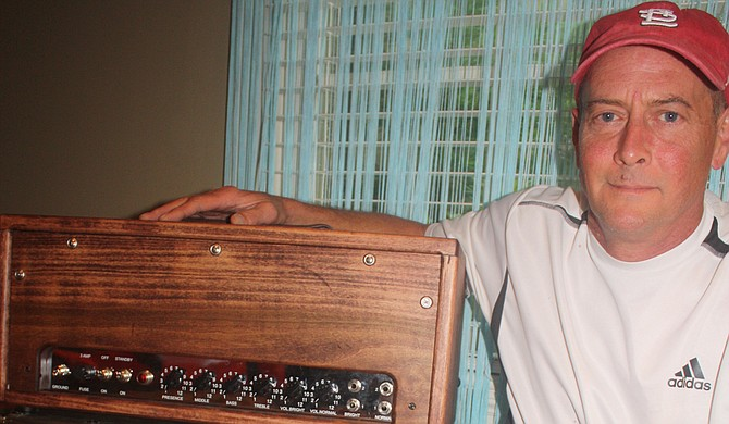 Madison resident Bob Bratton builds custom guitar amplifiers that offer a classic sound and blend in with each living space. Photo courtesy Larry Morrisey