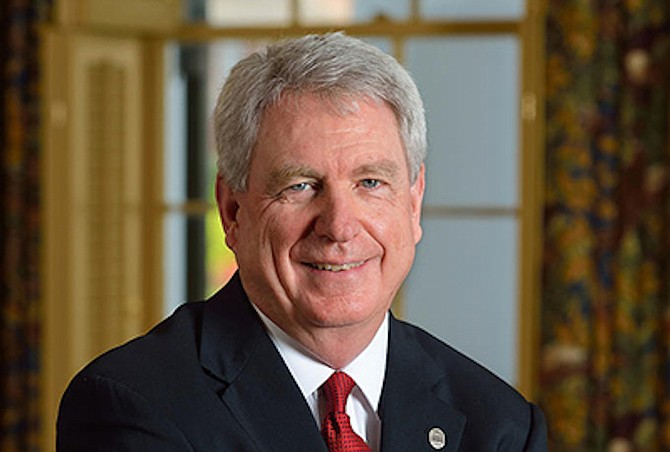 Dan Jones, former chancellor of Ole Miss, says it's time to change the Mississippi flag. Photo courtesy Ole Miss.
