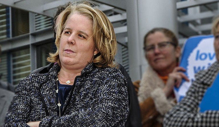 "Roberta Kaplan, the lead counsel attorney for the plaintiffs in the Campaign for Southern Equality v. Bryant case, kept it brief after Judge Reeves' ruling was affirmed on Thursday telling the AP, ""It's over."" Photo courtesy Trip Burns/File Photo"
