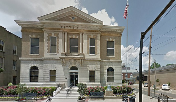 """The Colombus City Council voted 6-0 Tuesday to remove the state flag from municipal property, the Commercial Dispatch reported. Mayor Robert Smith, who requested the flag removal, said he would have no problem flying the state banner again if it's changed to a """"unifying"""" design. Photo courtesy Google Maps"""