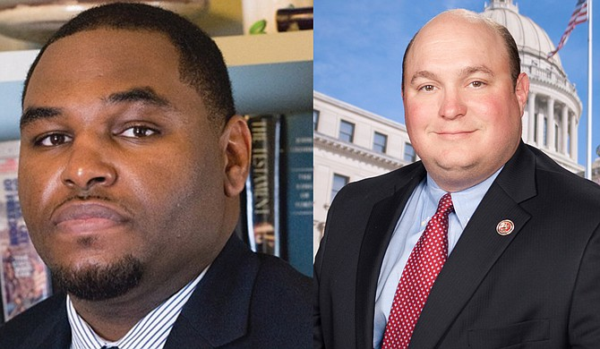 Jarvis Dortch (left) and Brad Oberhousen (right) face off in one of the marquee Hinds County legislative races on Aug. 4. Photo courtesy Jarvis Dortch Campaign/Mississippi House of Representatives