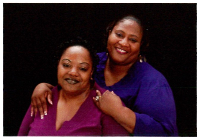 """(Left to right) Gladys and Jamie Scott discuss their childhoods, time in prison and life probation in their memoir, """"The Scott Sisters: Resurrecting Life from Double Life Sentences."""" Photo courtesy Gladys and Jamie Scott"""