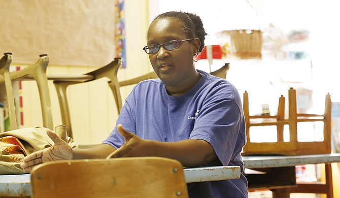 """Yolanda """"Lala"""" Kirkland has been at Stewpot Neighborhood Children's Program for 17 years, working with homeless middle and high-school students to make sure they graduate high school and, hopefully, college."""