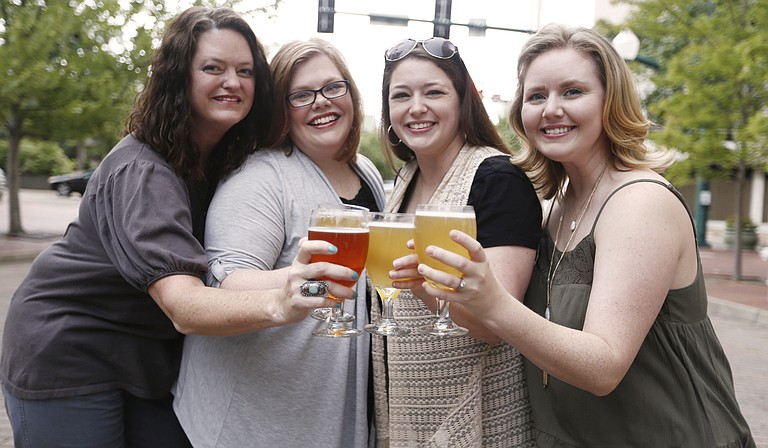 JXN Barley's Angels, which includes (left to right) Heather Collette, Charlene Williams, Toni Francis, who started the Jackson chapter, and Shanna Head, hopes to educate women on craft beer and create spaces to have a good time while supporting local breweries.