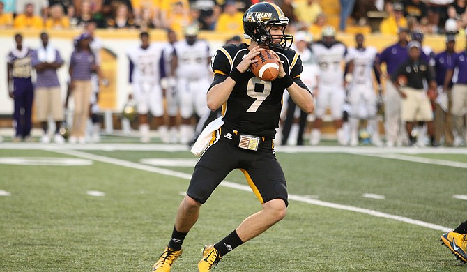 University of Southern Mississippi quarterback Nick Mullens could either help or hinder his team this season, which will affect his Conerly Trophy standings. Photo courtesy USM Athletics