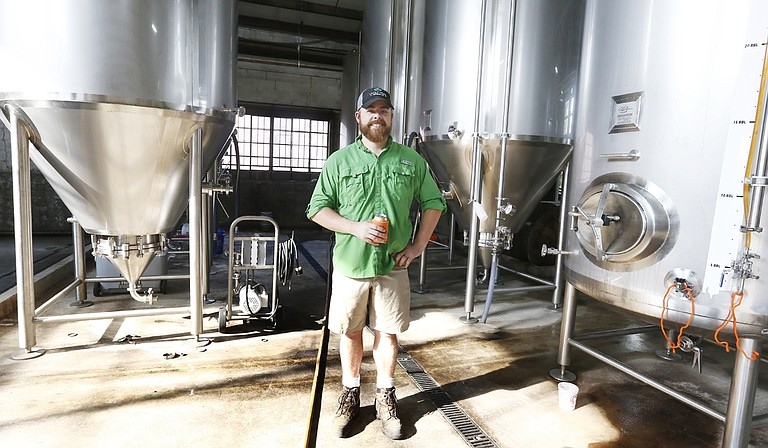 Brewmaster Lucas Simmons of Lucky Town Brewing Company