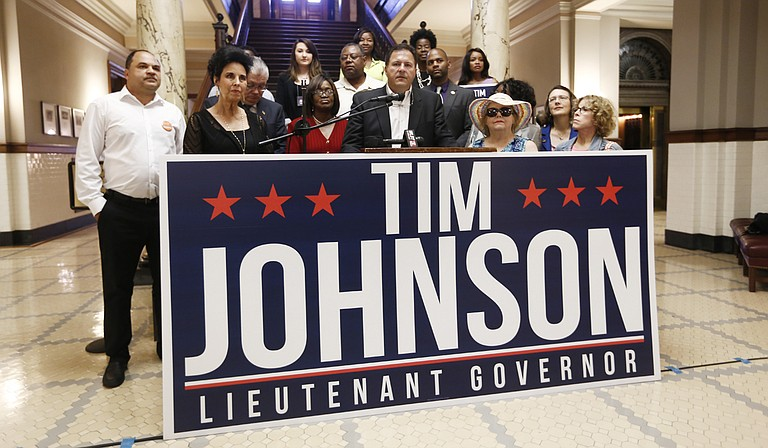 Tim Johnson, the Democratic candidate for lieutenant governor, called on Tate Reeves to debate him in public forums before the Nov. 3 election.
