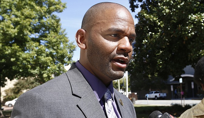"""Ward 4 Councilman De'Keither Stamps said the City and County should get on the """"same sheet of music"""" ahead of any possible polling-place changes."""