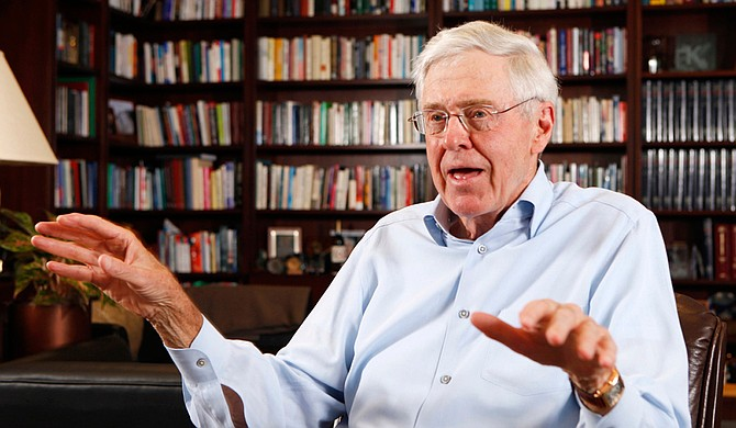 Charles Koch, CEO of Koch Industries, helped start Americans for Prosperity, an ultra-conservative national group that is funding efforts to block Initiative 42. Photo courtesy Associated Press/Bo Rader