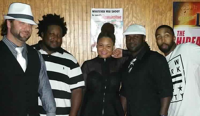 (Left to right) Marvin Curtis, Anthony Daniels, Nikki Reed, Kendrick Vivians and Steve Smith are Jackson Top 40s cover band Deez Notez. Photo courtesy Deez Notez