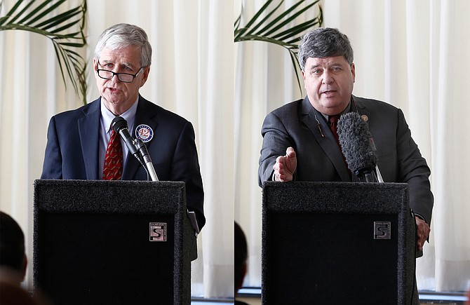 Jim Keith (left) and Rep. Greg Snowden (right)