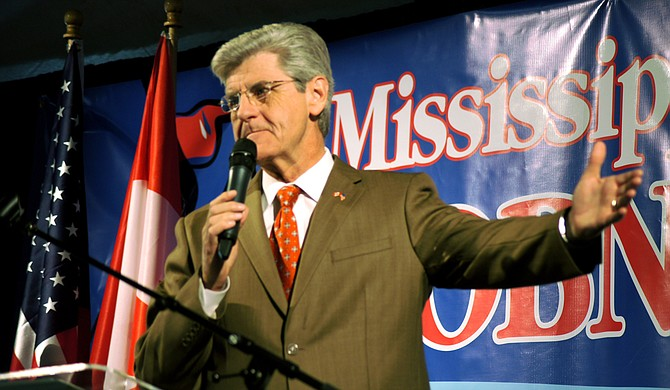 Speaking at the 2012 Mississippi Economic Council's annual Hobnob event, Gov. Phil Bryant touted international trade with Canada and charter-school legislation, which passed a year later.
